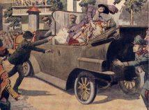 WW1 Austro-Hungarian post cards, Sarajevo June 28, 1914.