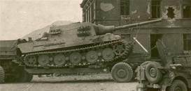Captured Jagdtiger being prepped for transport.