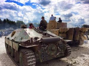 Hetzer and Bovington Tiger 131 at The Bovington Tank Museum - England.