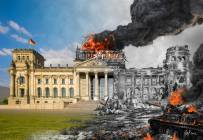 Now and Then artist's impression of the Reichstag.