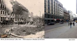 Berlin then and now comparioson.