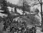 Captured German soldiers near Auland, Austria -May 1945.