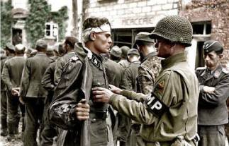 SS-Untersturmführer Kurt Peters captured in Normandy.