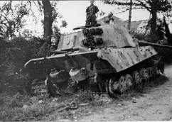 Knocked out King Tiger II.