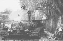 Artists rendition of a Tiger III/E-75 Standardpanzer which was never built, but was being planned at wars end.