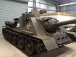 This is a Soviet SU100 Tank killer that was built to fight German Panzers in WWII.