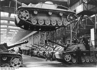 StuG III production line.