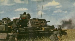 Panzer III advancing in Russia.