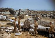 Graveyard of Junkers Ju-52's and other planes in North Africa.