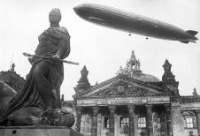 Graf Zeppelin over the Reichstag.