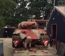 Panther Aus. A. being prepped for restoration.