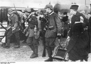 The mobilization in 1914.