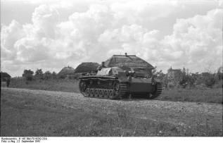 StuG III in the Soviet Union, 1941.