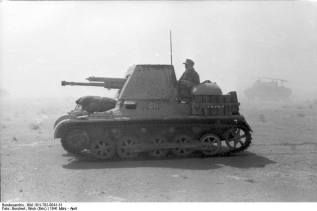 A Panzerjäger I in North Africa.