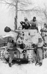 A Panzerjäger (tank destroyer) Marder III, Kharkov, February 1943.