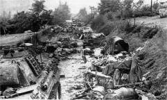 Destruction in the Falaise Pocket.