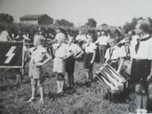Hitlersjugend parade in Backa Palanka.