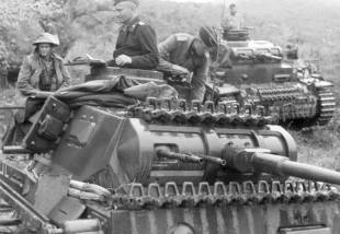 General Balck in command vehicle in Greece, April 1941.