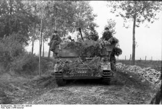 Möbelwagen in northern France, June 21, 1944.