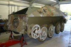 Hetzer being restored.