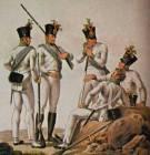 The austrian border troops, 18. century-Serbs,Croats, German.