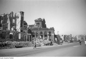 1945 Berlin in ruins after World War II.