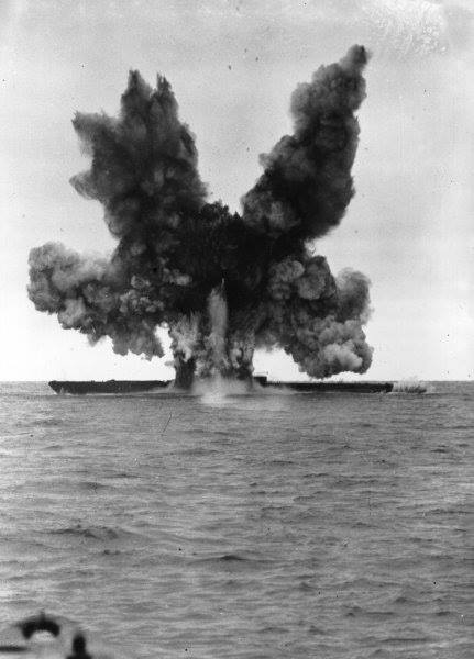 Here, U-234, a WW II German submarine, is blown up by experimental torpedoes off Cape Cod in 1947.