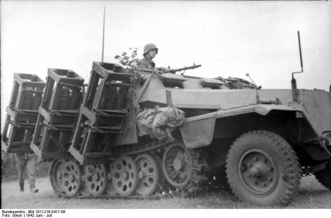 Wurfrahmen mounted on Sdkfz 251.