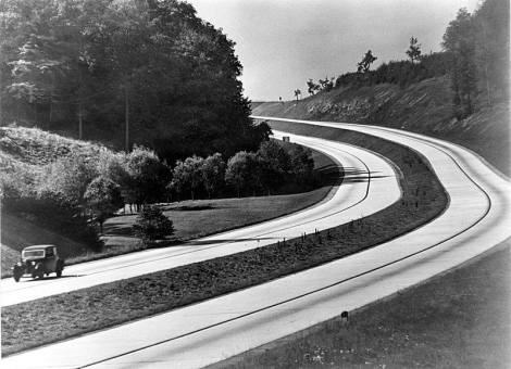 Autobahn, late 1930s.