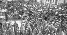 Russian prisoners at Tannenberg, 1914.