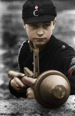 Hitler Youth defender in Berlin.