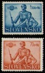 Postmarks from the Slovakian Republic 1939-45.