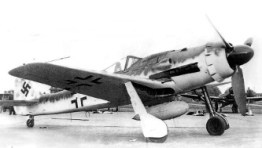 An early production Fw 190 D-9 at the Cottbus plant. Note the early canopy and redesigned, simplified centreline rack carrying a 300 l drop tank.