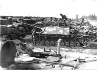 Leftover equipment directly after the war.