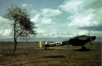 Messerschmitt Bf 110 photographed at Sofia-Vrazdebna at the beginning of April 1941 as German forces were preparing to invade Greece and Yugoslavia.
