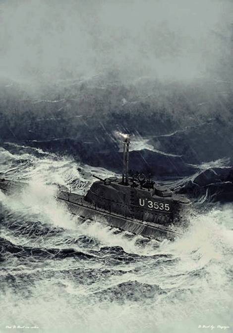 Artist rendition of U-3535