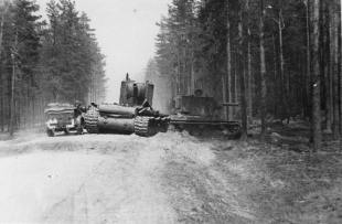 Knocked out KV-2 tanks on the Eastern Front.