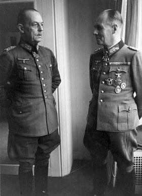Field Marshalls Gerd von Rundstedt and Erwin Rommel.
