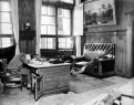 In 1945, as Allied troops took Germany, many officials, fearing reprisals, committed suicide. Here, the mayor of Leipzig has taken his own life at his desk.
