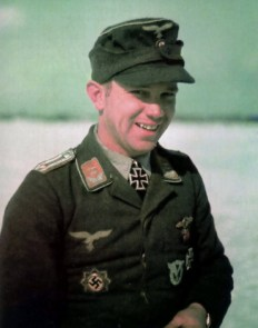 Oberleutnant Hans-Joachim Jäschke after receiving Ritterkreuz on 26 March 1944.