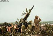 2nd Hungarian Army, 29M Bofors 80mm AA gun in firing position in Stary Oskol, Russia.