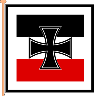 1933–1935 Flag of the Minister of Defense.