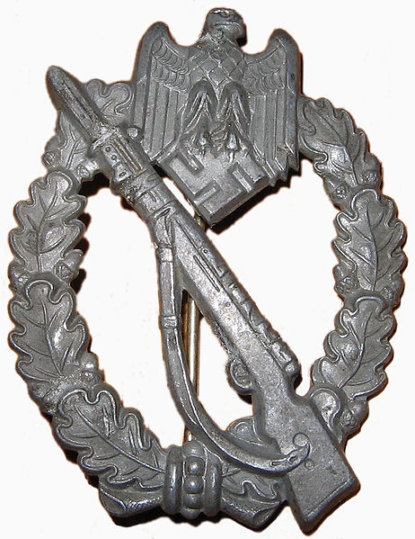 Infantry Assault Badge in Silver.