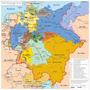 Map of the German Confederation.