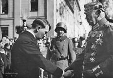 Paul von Hindenburg and Adolf Hitler on the Day of Potsdam, 21 March 1933.