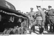 Heinrich Himmler inspecting a tank of the 1st SS Division, Metz, September 1940.
