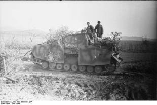 A Sturmpanzer in the Anzio-Nettuno area of Italy, March 1944.