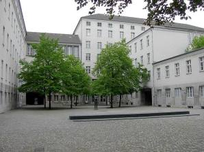 The courtyard at the Bendlerblock, where Stauffenberg, Olbricht and others were executed.