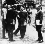 Stauffenberg, left, with Hitler (centre) and Keitel, right, in a failed assassination attempt at Rastenburg on July 20, 1944.