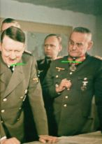 Adolf Hitler, Wilhelm Keitel (blocked), Eckhard Christian and Franz Halder.